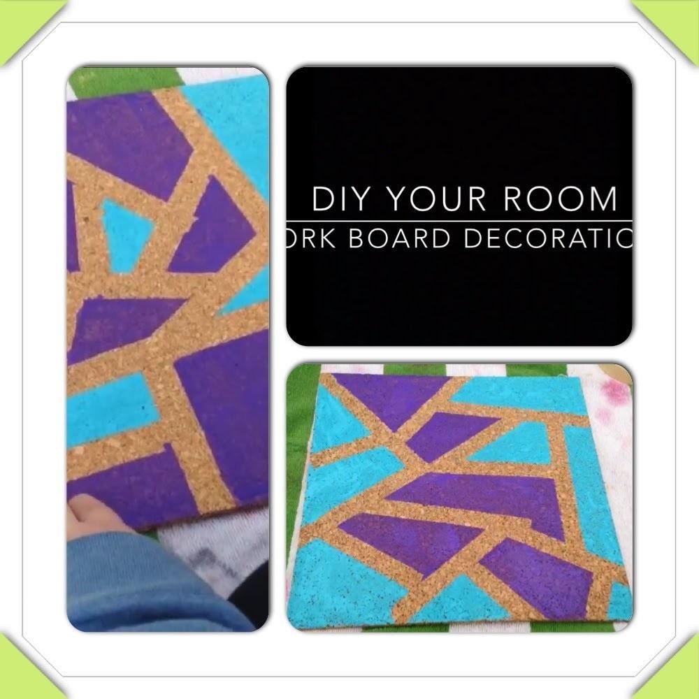 DIY Your Room: Cork Board Decorations