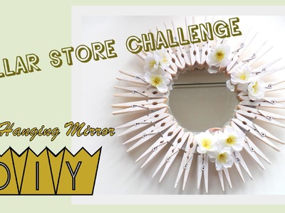 Dollar Store Project.Wall Hanging Mirror DIY | by Fluffy Hedgehog