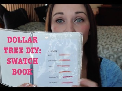 DOLLAR TREE DIY: Make Your Own Swatch Book | Courtney Val
