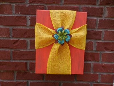 Easy DIY Burlap and Canvas Cross