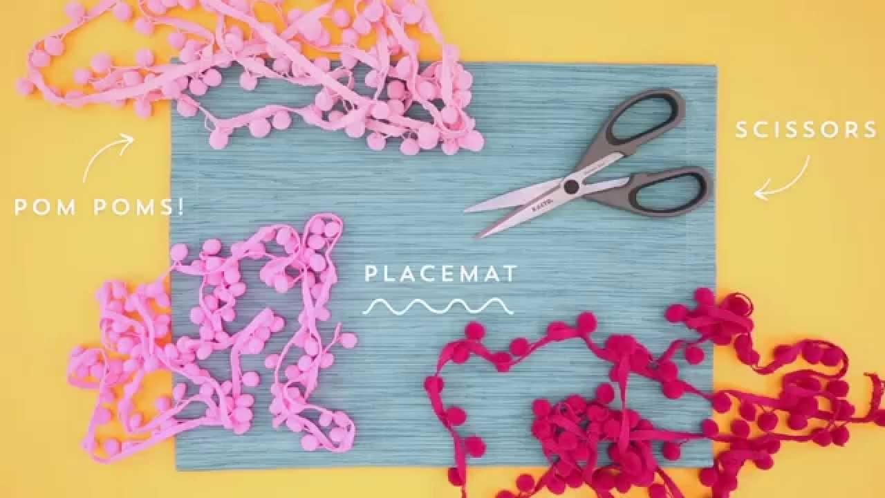 Elmer's CraftBond Hot Glue DIY Inspiration – Pom-Pom Placemats