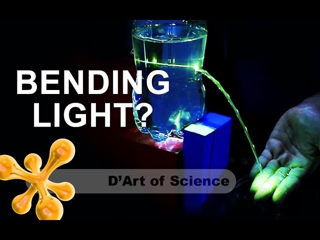 How to CURVE A LIGHT BEAM - DIY - total internal reflection - fibre optics - dartofscience