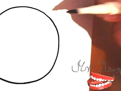 How to draw a Perfect CIRCLE Freehand in 5 SEC EASY (Almost perfect), draw easy stuff but cool