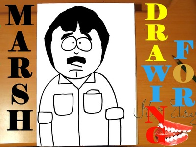How to draw RANDY MARSH from SOUTH PARK characters Easy,draw easy stuff but cool|SPEED ART