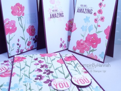 How to make 6 cards from 1 sheet of Designer Series Paper from Stampin' Up! UK