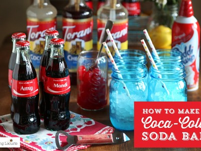 How to make a DIY Coke Soda Bar  | Easy Party Idea