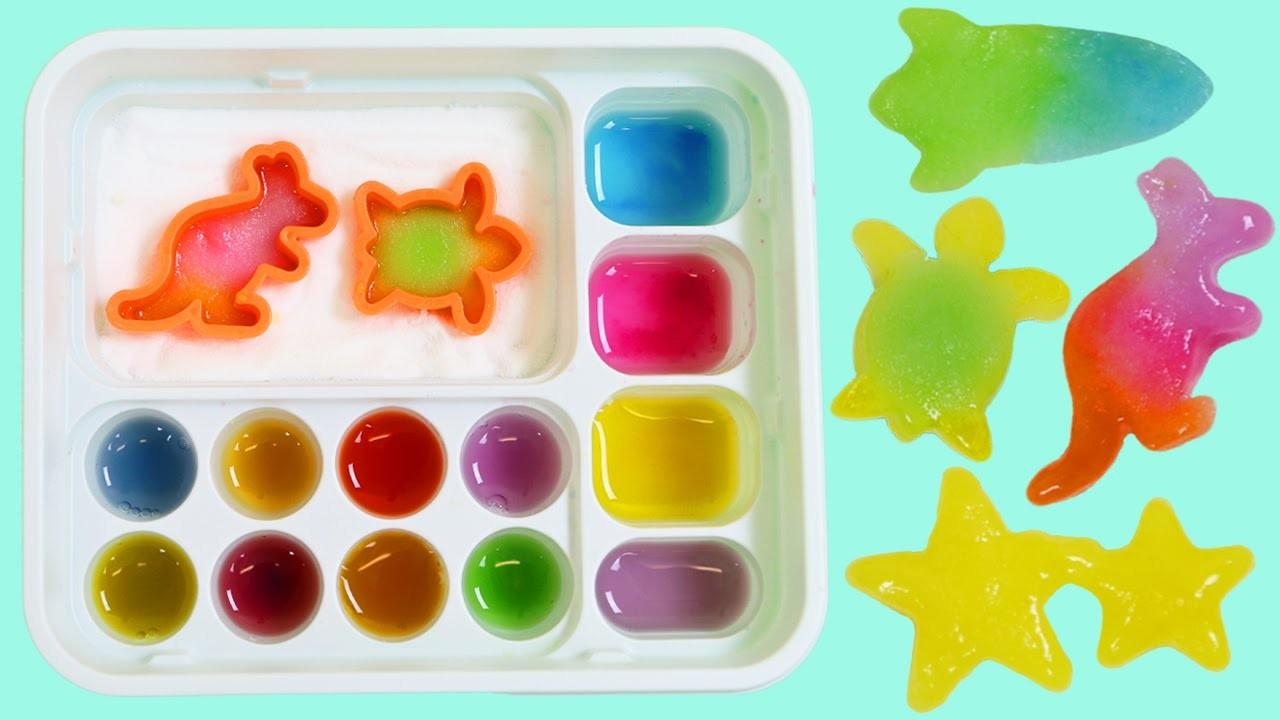 Kracie Popin Cookin' Oekaki Gummy Land Japanese DIY Candy Kangaroo Star Dolphin Rocket Shapes!