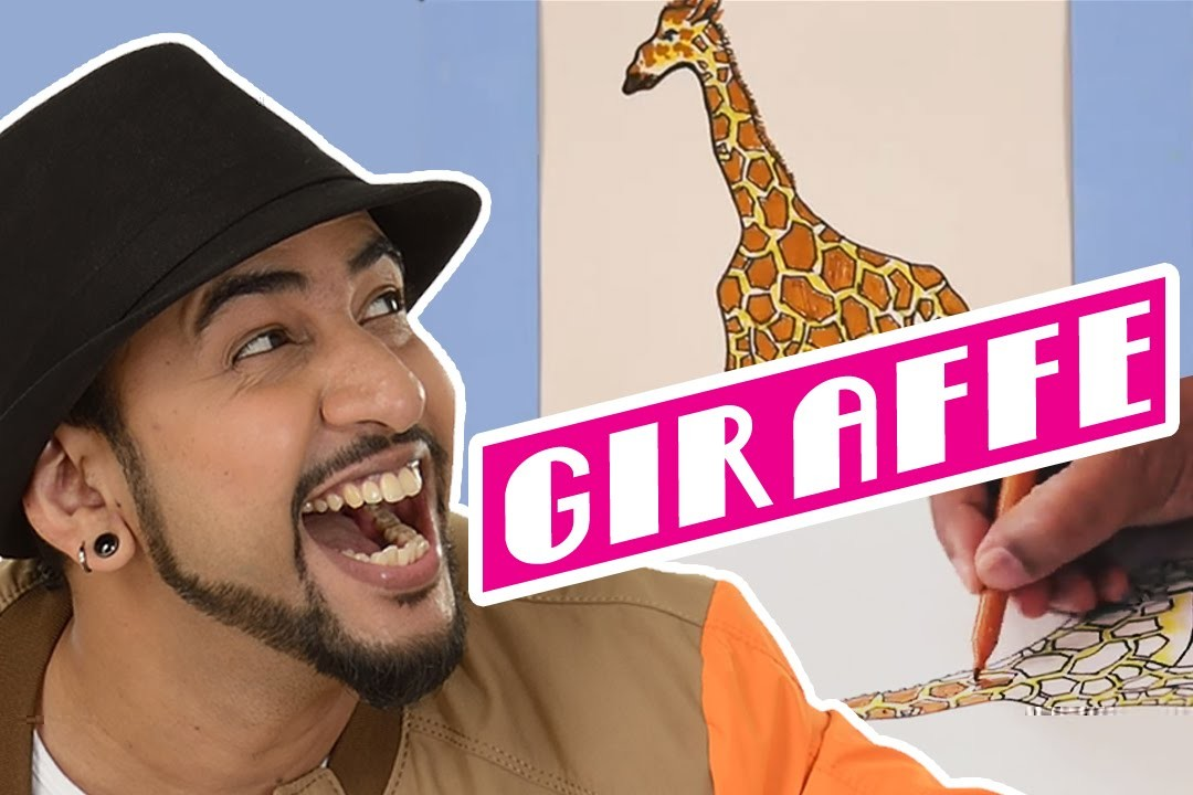 Mad Stuff with Rob - How to draw a Giraffe | DIY Drawing for children