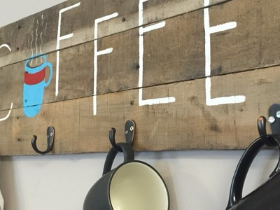 Make a Rustic Coffee Bar Mug Rack - DIY Home - Guidecentral