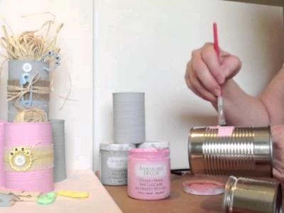 RadiantStorm DIY Chalk Board Tin Cans