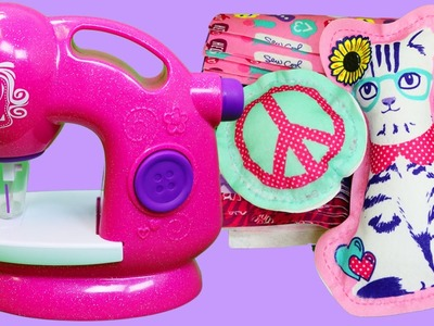 Sew Cool Glitter Deluxe Sewing Studio Playset | DIY Design, Stitch, and Decorate Your Own Projects!