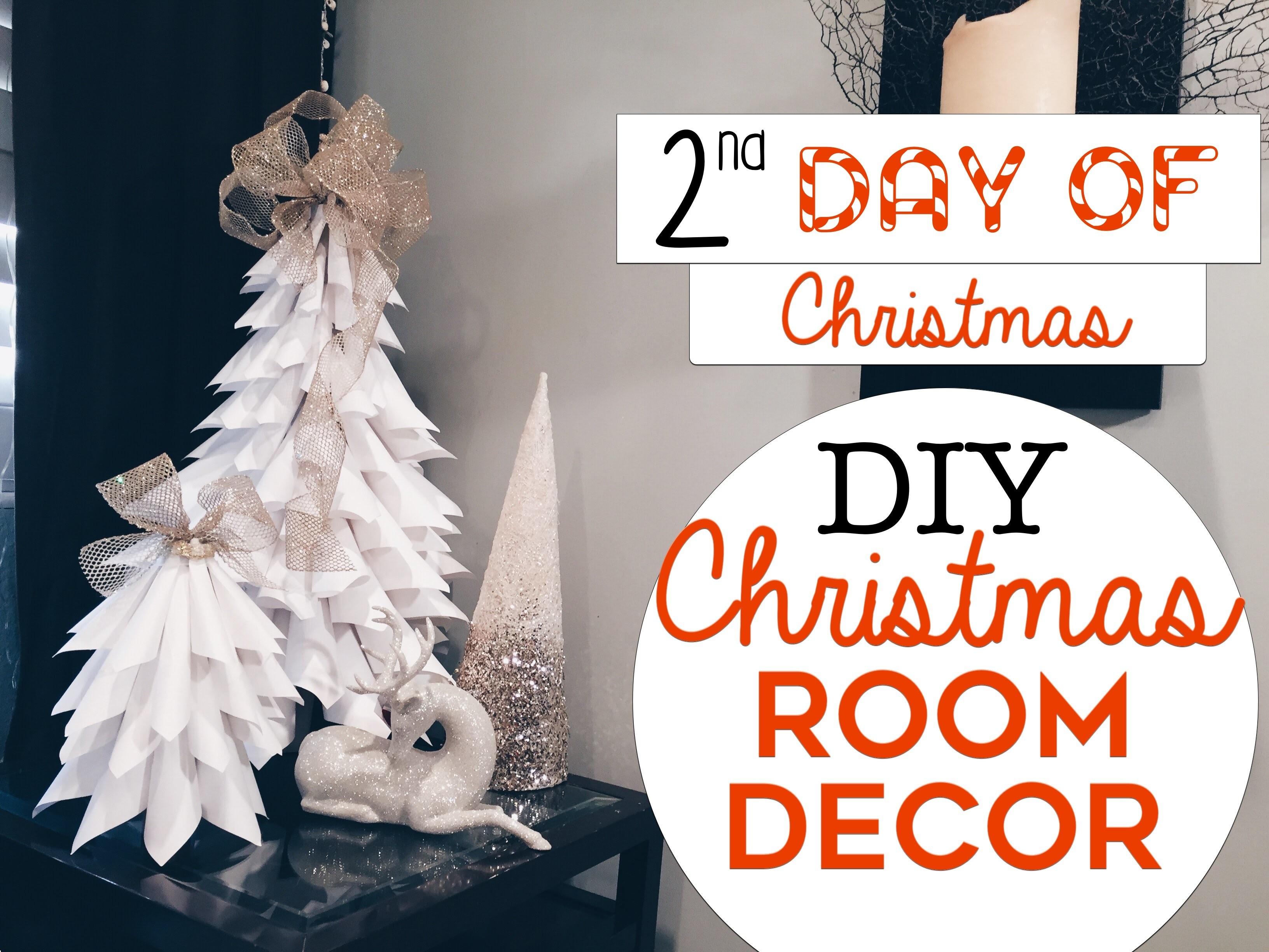 3 EASY Christmas Room Decor DIY's   2nd Day of Christmas!   DIY Christmas Trees for Small Spaces