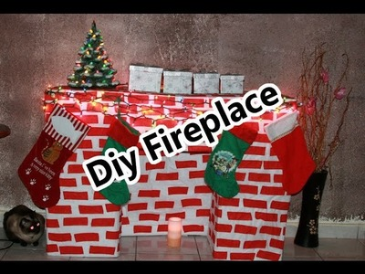 CHRISTMAS DIY FIREPLACE - CHIMENEA DE NAVIDAD HAZLO SOLA