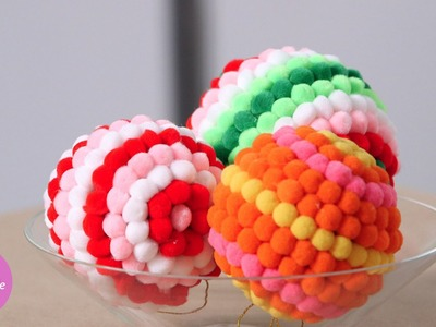 Colorful Pom-Pom Ornaments - DIY Style - Martha Stewart