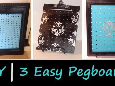 DIY |  3 Easy Pegboards