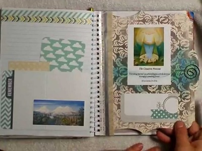 DIY Art Journal. Planner notebook