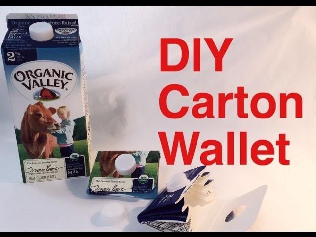 DIY Carton Wallet - Natalie's Creations