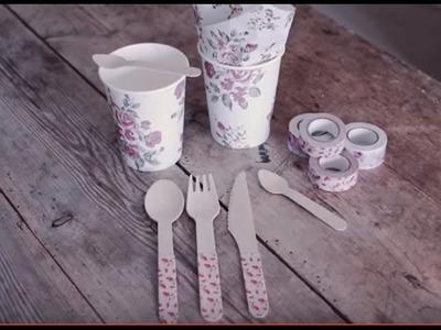 DIY: Decorated cutlery by Søstrene Grene