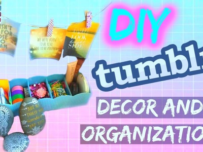 DIY Desk Decor and Organization | Tumblr Inspired