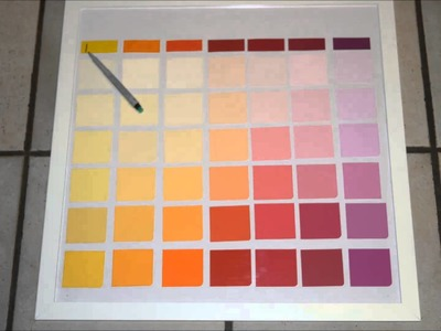 DIY Erasable Paint Sample Calendar