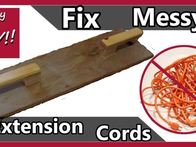 DIY: Extension cord holder