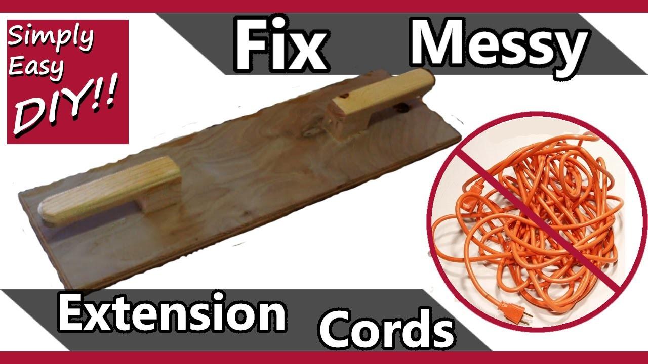 DIY: Extension cord holder