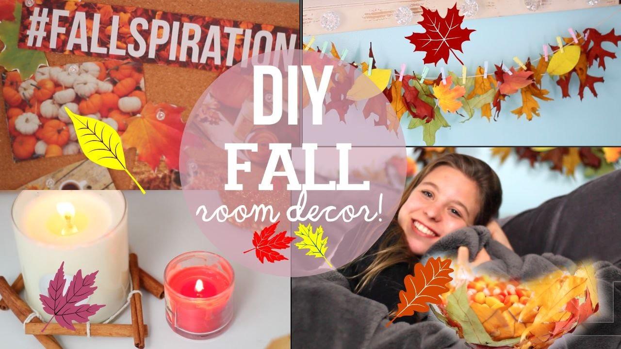 DIY Fall Room Decor! Make Your Room Cozy!