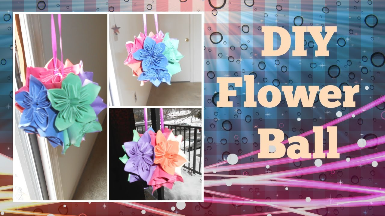 DIY flower Ball a.k.a. Japanese Kusudama flower