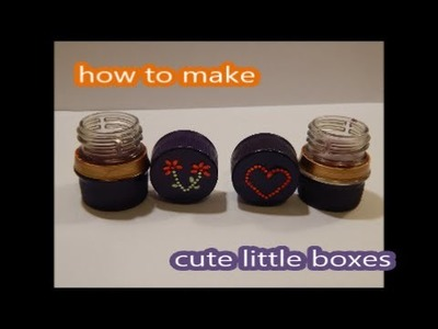 DIY How to make a cute little container