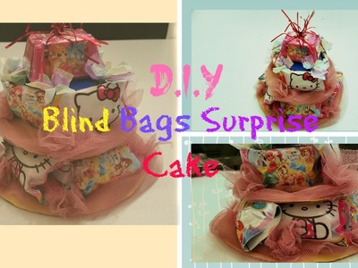 DIY how to make blind bag surprise cake