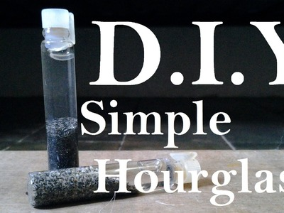 DIY Mini Homemade Beach Sand Hourglass