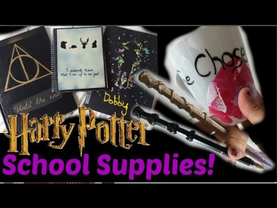 DIY: School Supplies Inspired By Harry Potter! NoteBooks, Pens & Mug| Laura'since99
