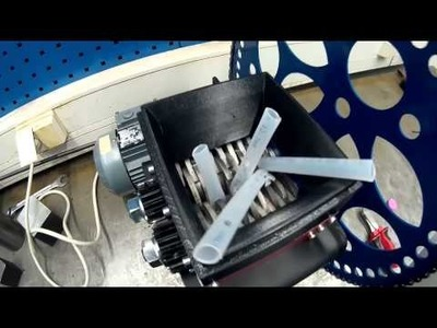 DIY Shredder for plastic recycle on 3D printing part 5