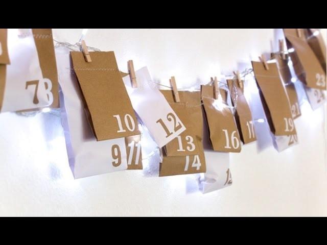 DIY Upcycled Advent Calendar. Christmas Crafts