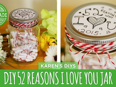 DIY Valentine's Day 52 Things I Love About You Jar - HGTV Handmade