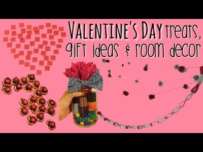 DIY: Valentines Day Treats, Gift Ideas + Room Decor!