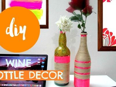 DIY ✂ WINE BOTTLE DECOR    Pinterest Inspired