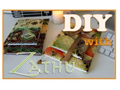 DIY WITH ZATHU   Notebook Cover