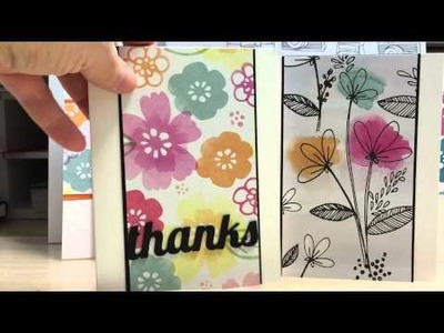 Easy Cards Using your Patterned Paper Stash and Scraps