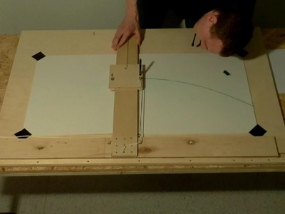 EN; DIY: Making of a tool to draw.construct a parabola