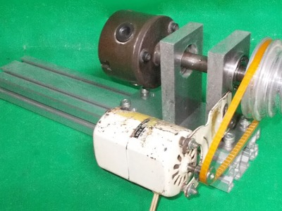 Homemade Wood Metal Lathe Mill Projects DIY Spindle Jaw Chuk Headstock CNC Router PCB Drill Cheap