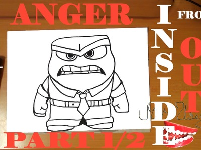 How To Draw ANGER From INSIDE OUT Step By EasyDisney