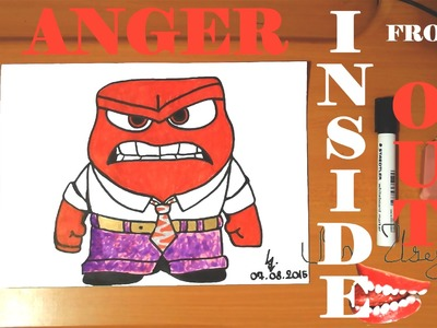 How to draw ANGER from INSIDE OUT characters Disney Easy,draw easy stuff but cool|SPEED ART