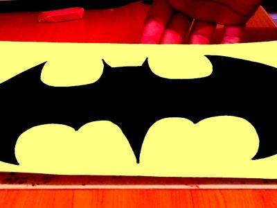 How to draw Batman Logo EASY Superheroes Logos,SPEED ART,draw easy stuff but cool,#2.2
