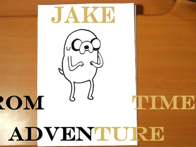 How to draw JAKE The Dog from Adventure Time EASY, draw easy stuff but cool, SPEED ART