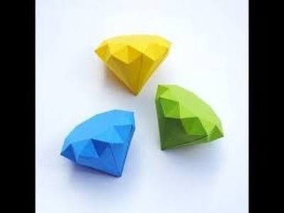 HOW TO MAKE A PAPER DIAMOND STEP BY STEP