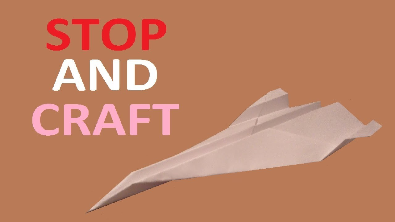 How to make a Paper Origami Black Bird SR71 Spy Plane