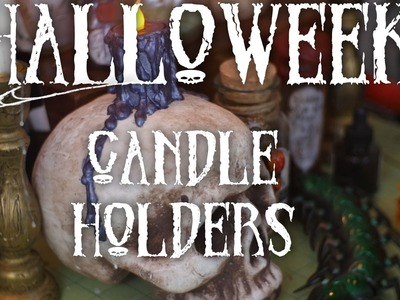 How to Make Halloween Themed Candle Holders : DIY ~HALLOWEEK~