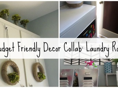 Laundry Room Tour with DIY Decor Collab with Gentle Thrifty Mama!