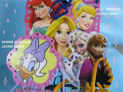 Minnie Lacing Cards AND Make Your Own Disney Princess Lacing Cards DIY